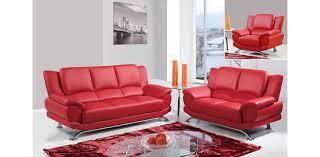 global furniture bonded leather sofa leather sofa set of 3pc red u9908 r global furniture