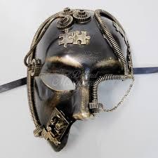 steunk masquerade mask steunk futuristic skull masquerade mask gold m39030g beyond
