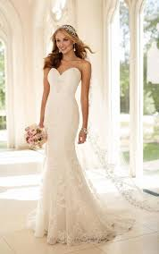 strapless wedding dress fit and flare strapless wedding dress i stella york wedding gowns