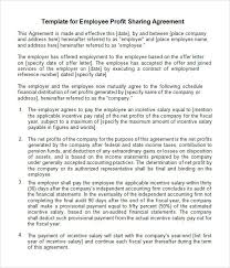 sample profit sharing agreement 10 free documents in pdf doc