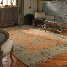 Floor Rugs by Oushak Rust U0026 Blue Wool Area Rugs Zin Home