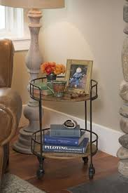 rustic side table astoria rolling accent table industrial vibe