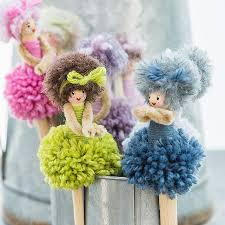pom pom dolls r these not the cutest things children crafts