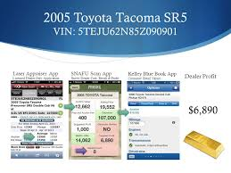 2005 toyota tacoma kelley blue book snafu scan the consumer s car buying companion it can save you