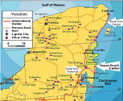 Mayan Ruins Mexico Map by Sage Guide Mexico Itinerary