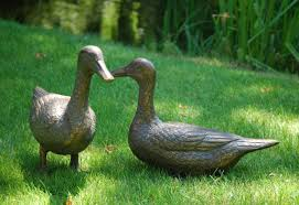 pair of ducks antique bronze statue large garden ornament s s shop