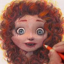 drawing art merida brave pixar