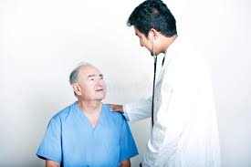 Doctor Comforting Patient A Young Asian Doctor Comforting A Senior Patient Stock Image