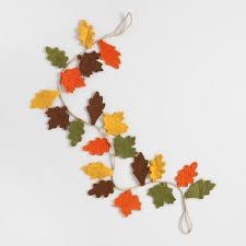 fall garland felt fall leaf garland world market