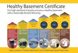 healthy basement crawlspace certificate