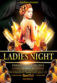 free ladies night party flyer psd template by styleflyer com is