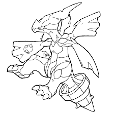 Pokemon Coloring Pages Black And White Zekrom  coloring