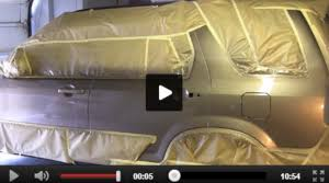 painting auto body panels and blending paint