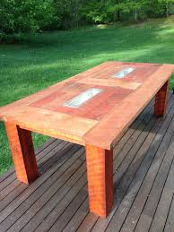 Plans For Building A Wooden Patio Table by Diy Patio Table With Built In Beer Wine Coolers Domesticated