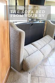 rv sleeper sofa remove the sofa from your rv mountainmodernlife com