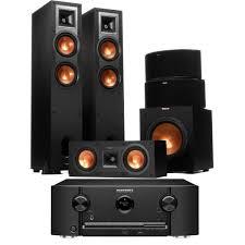 genius sw 5 1 home theater marantz sr5011 b stock reciever w klipsch r 26f speakers w r 25c