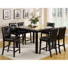 atlas faux marble top counter height dining table set u2013 24 7 shop