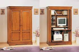 Hideaway Computer Desk Cabinet Sophia Cherry Hideaway Computer Cupboard Amazon Co Uk Kitchen U0026 Home