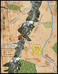 map from lord of the rings map of frodo s journey from rivendell to lothlorien from lord of