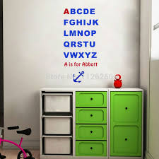 Online Get Cheap Abc Wall Decals Aliexpresscom Alibaba Group - Alphabet wall decals for kids rooms