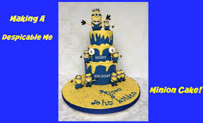 making a despicable me minion cake youtube