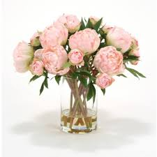 faux peonies design ideas soft pink peonies faux plants that will fool your