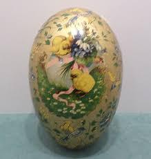 large paper mache egg antique german paper mache easter egg jazz rabbits