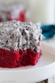 red velvet sheet cake recipe with cookies and cream frosting