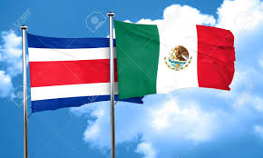 Costarican Flag Costa Rica Flag With Mexico Flag 3d Rendering Stock Photo