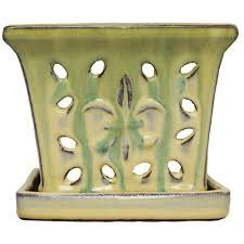 the plant stand of arizona 13 in round glazed ceramic pot 226024