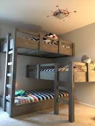 quadruple corner bunk bed plans entrin info