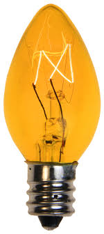 c7 light bulb c7 yellow light bulbs transparent