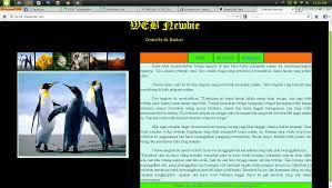membuat web html contoh website html info knowledge