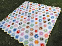 flower garden quilt pattern canton village quilt works vintage grandmother u0027s flower garden
