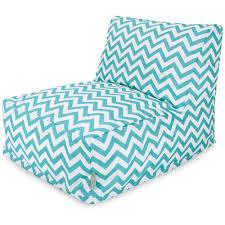 indoor outdoor chevron beanbag lounge chair u2014 turquoise blue