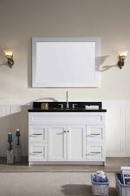 white sink black countertop ariel hamlet 49 single sink vanity set with absolute black granite