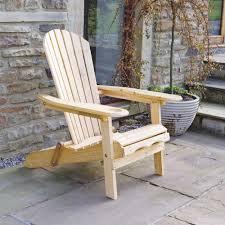 Outdoor Wooden Garden Furniture Trueshopping Garden Patio Adirondack Newby Arm Chair With Slide