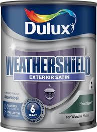 Metal Paint Exterior - dulux weathershield satin quick dry 750ml exterior wood u0026 metal