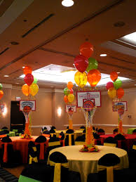Centerpieces For Banquet Tables by Basketball Centerpieces Basketball Themed Party Events