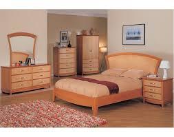 julie bedroom set maple light cherry finish
