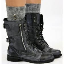 womens boots size 3 womens style army combat lace up ankle worker boots