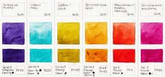 Yellow Swatches Jane Blundell Artist Qor Watercolours By Golden Updated