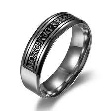 cheap mens rings images High polished harley davidson logo mens rings neverbacks jpg