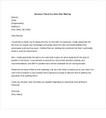 sle thank you letter after thank you letter format after business meeting 28 images 10