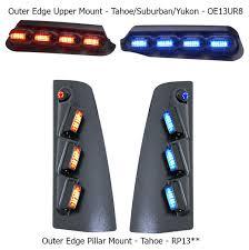 whelen ambulance light bar whelen outer edge rear facing exterior mount super led lightbar