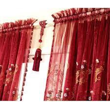 Sheer Valance Curtains Sheer Curtains Half Blackout Luxury Flocking