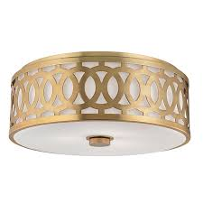 Flush Lighting Fixtures Hudson Valley 4317 Agb Genesee Aged Brass Flush Mount Light