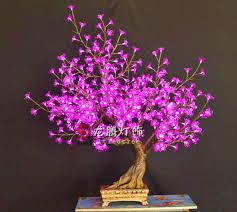 best quality lighted led bonsai view led flower bonsai longteng