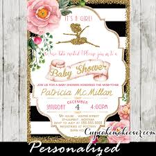ballerina baby shower invitations ballerina archives cupcakemakeover