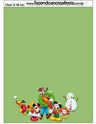 Christmas Invite Cards Mickey And Friends For Christmas Free Printable Invitations Or